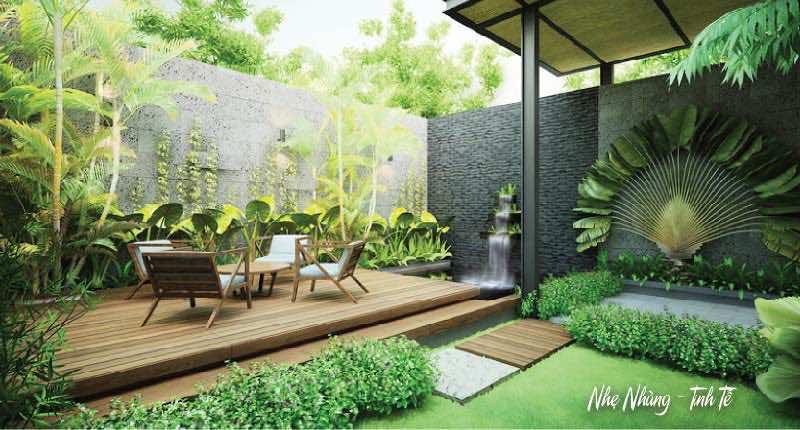 Thiết kế và thi công sân vườn trọng gói