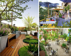 Thiết kế quán cafe sân vườn theo yêu cầu
